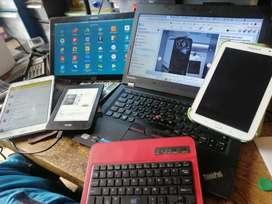 Samsung tab A tab E Lenovo y otras mantenimiento reparación en la cava del libro
