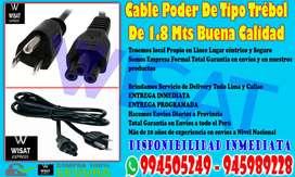 Cable Poder De Tipo Trébol De 1.8 Mts