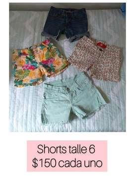 Shorts para Niña Talle 6