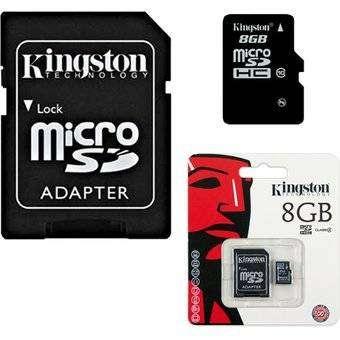Memoria micro SD HC 8gb con adaptador – Negro 0
