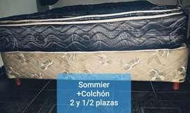 #VENDO SOMMIER + COLCHÓN  DE 2 y 1/2