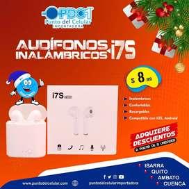 AUDÍFONOS INALAMBRICOS I7S