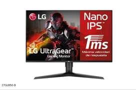 "Monitor Gamer LG 27GL850-B 27"" Nano IPS QuadHD 144Hz G-Sync Compatible"