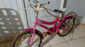 Bicicleta rodando 20 para nena