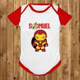 Body/ Mameluco / Bodies Personalizado Para Bebé Iron Man