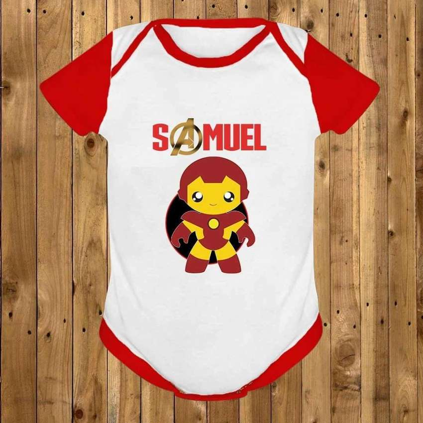 Body/ Mameluco / Bodies Personalizado Para Bebé Iron Man 0