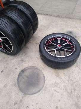 Vendo aros 17 de aluminio con llantas Michelin