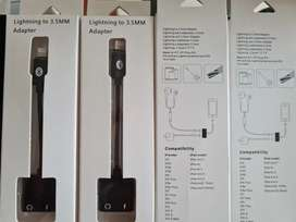 ADAPTADOR IPHONE LIGHTNING Y JACK