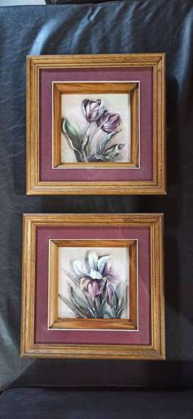 Vendo par de cuadros arte francés