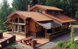 casas campestres en madera y concreto