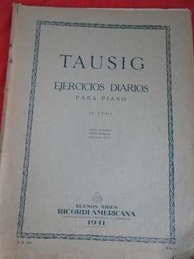 TAUSIG   EJERCICIOS DIARIOS PARA PIANO en LA CUMBRE