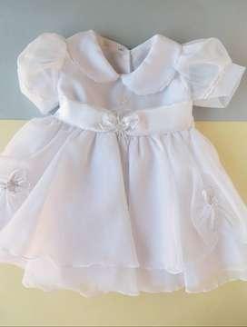 Vestido NUEVO Bautizo Niña - Talla 12 meses