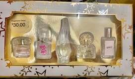 Perfumes originales en miniatura de Italia y Estados Unidos, set de 5