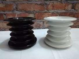 Materas en espiral modernas Blanca y negra