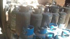 Garrafas envases de gas