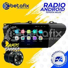 RADIO ANDROID PARA TOYOTA HILUX 2016/20 GPS BT USB WIFI BETAFIX DESDE