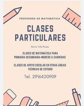 CLASES PARTICULARES DE MATEMÁTICA PRIMARIA-SECUNDARIA-INGRESO UNIVERSIDAD