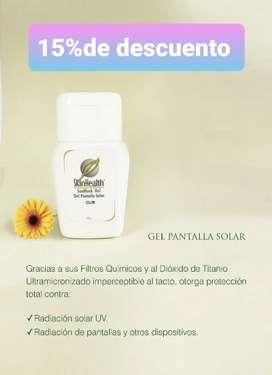 Pantalla solar skin health