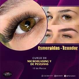 Curso de Cejas Microblading  y Pestañas Esmeralda