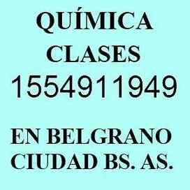 Apoyo en quimica en Nuñez C.A.B.A. cerca Belgrano Saavedra