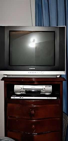 "PROMO Tv 32""Samsung + DVD Samsung + VHS Panasonic + Controles"