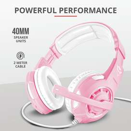 Audifono Diadema Gamer Trust Gxt 310P Radius 3.5 Mm Pc,Laptop,Ps4, Xbox One Rosado