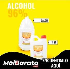 Alcohol Etílico 96% Antiséptico en presentación de galón y 1 litro ⚡