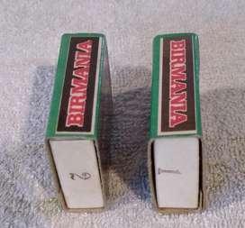 Antiguas  Cajas con  Soldaditos De Plomo Birmania Minibox Num.1 y 2 LIQUIDO !!!