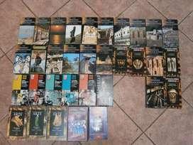videocassettes de grandes civilizaciones del pasado,etc.