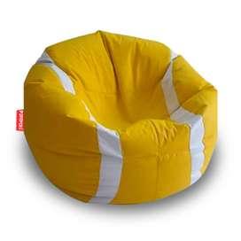 Puff Circular Tenis XL Amarillo.