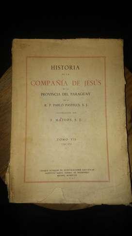Vendo Historia De La Compañia De Jesus En Paraguay