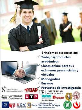 Asesoría Virtual todas la universidades del país, experiencia profesional y compromiso de trabajo