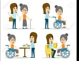 Servicio y cuidado del adulto mayor y enfermos, acompañándolo en cada momento que lo necesite.