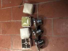Juego de 3 volantes y 3 campanas vintage para canilla