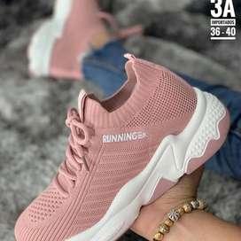 Zapatos Running Unicolor Media
