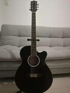 Guitarra electroacústica Greko tipo folk