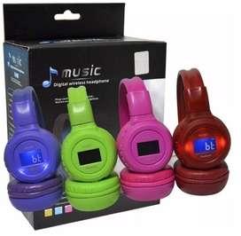 AUDIFONOS DIADEMA BLUETOOTH N65 Micro Sd, RADIO Fm, Lcd 1.5