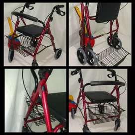 Camínador en aluminio con asiento