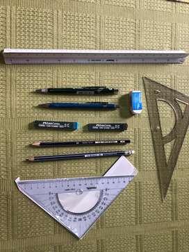 Vendo Tablero de 50 x 60 cm con paralela, atril 1 pos. Y maletín
