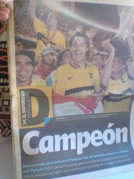 Boca Campeon 2008/Suplemento Clarin!!! Coleccionable!