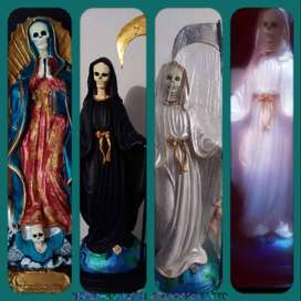 Estatuas de la santa muerte en yeso y resina