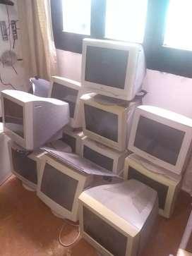 Monitores con uso medio. Todavía prometen larga vida.