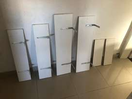 6 estanterias melamina blanca