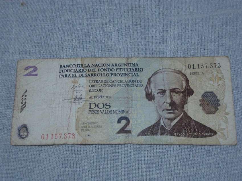billete 2 LECOP Argentina 0