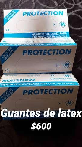100 Guante de latex blanco excelente calidad