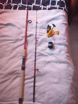 Caña de pescar con cuchara 1.80m