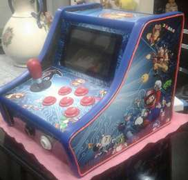 mini consola retro arcade video juegos de SACOA  de la decada del 80