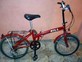 Vendo bicicleta rodado 20 con cambios casi sin uso