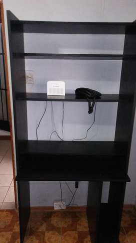 Mueble de Computadora de Melamina Negra