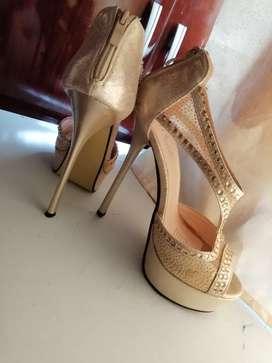 Zapatos fiesta mujer como nuevo talla 37